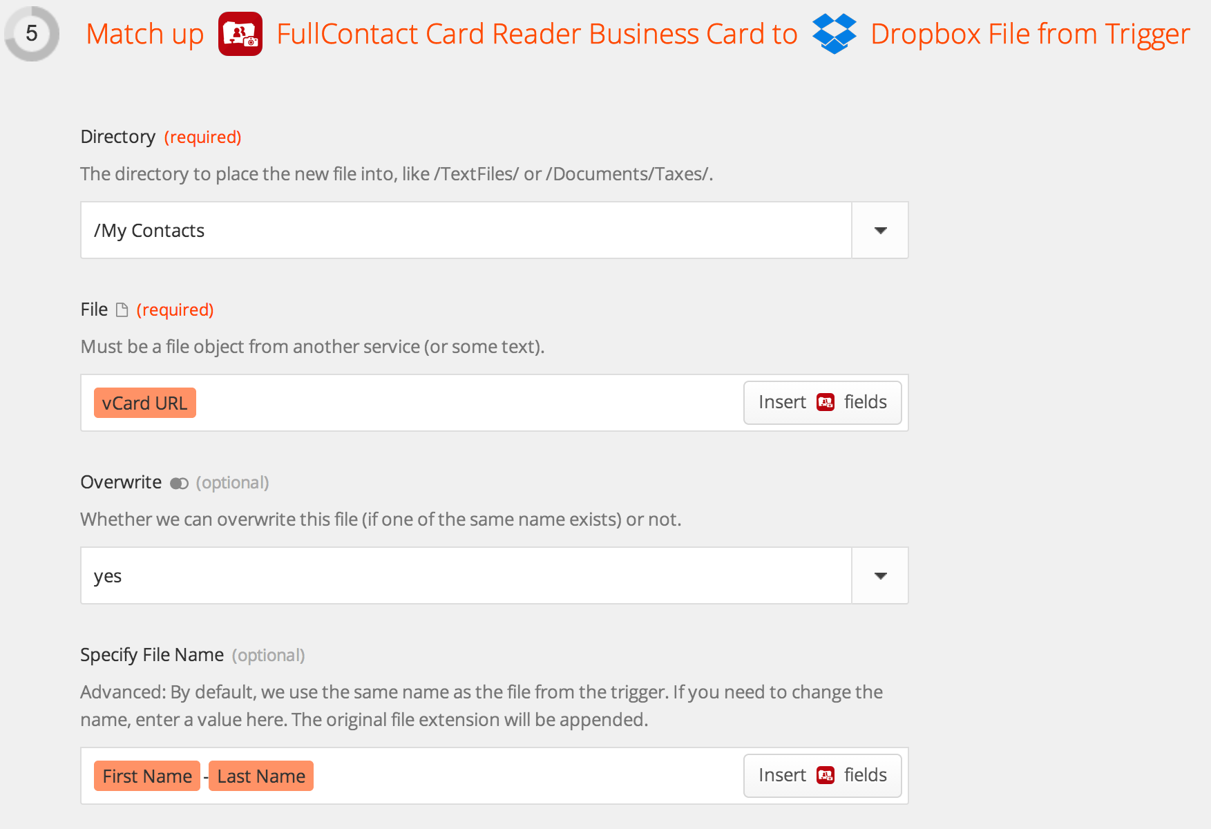 How to scan business cards to dropbox fullcontact map business card contact to dropbox magicingreecefo Choice Image